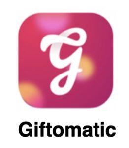 Giftomatic cadeau app