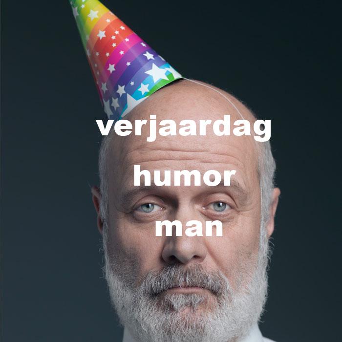 verjaardag humor man