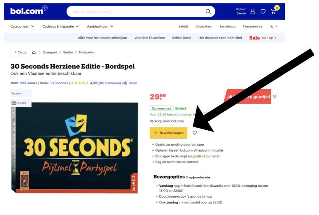 boekenbon betalen bij bol.com